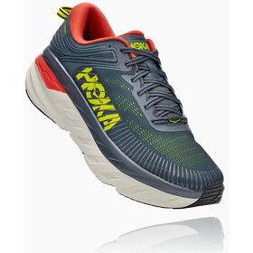 Hoka One One Bondi 7 Shoes Men, turbulence/chili